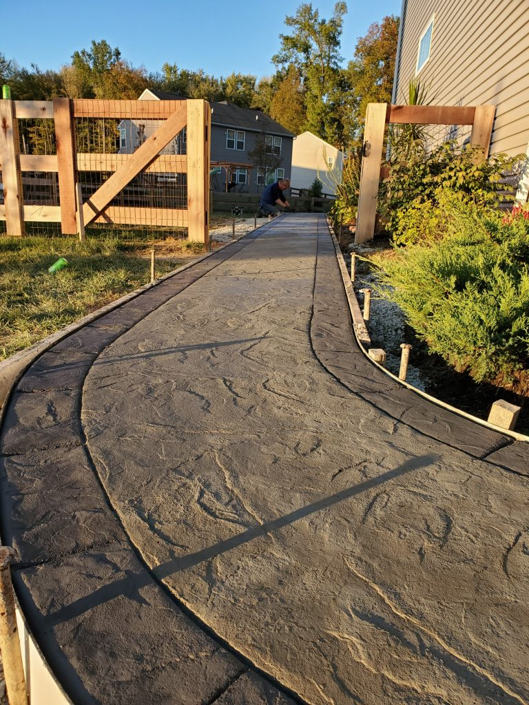 SOLIDForm Concrete stamped concrete path