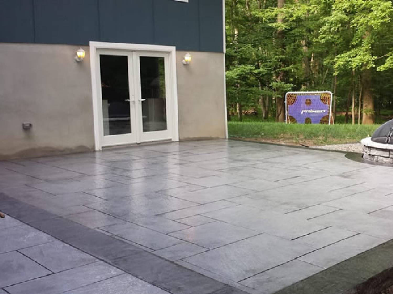 SOLIDForm Concrete stamped patio