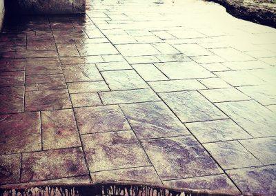 SOLIDForm Concrete stamped concrete patio